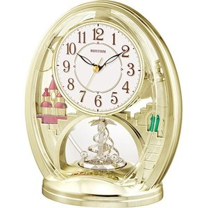 リズム時計 置時計/ファンタジーランド 783SR 回転飾り 4SG783SR18/4SG783-018(取寄せ/代引不可)|ajewelry