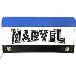 プラスト ティーズファクトリー/MARVEL(マーベル) トリコカラー長財布/ブルー 5236049(取寄せ/代引不可/ギフト不可)|ajewelry