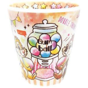 プラスト/ディズニー Wプリント メラミンカップ コップ/キャンディドリーム チップ&デール 5240429(取/ギフト不可)|ajewelry