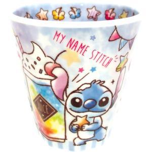 プラスト/ディズニー Wプリント メラミンカップ コップ/キャンディドリーム スティッチ 5240430(取/ギフト不可)|ajewelry
