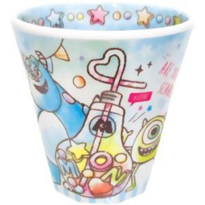 プラスト/ディズニー ピクサー Wプリント メラミンカップ コップ/キャンディドリーム モンスターズインク 5240432(取/ギフト不可)|ajewelry