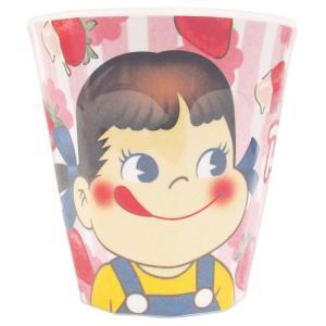 プラスト ツジセル/不二家 ペコちゃん Wプリント メラミンカップ コップ/いちご アップ 5240789(取/ギフト不可)|ajewelry