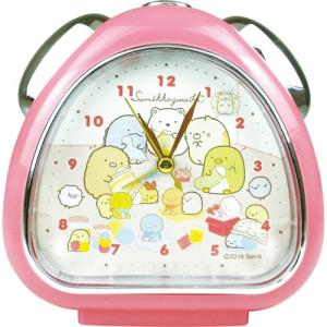 プラスト ティーズファクトリー 目覚まし時計 おむすびクロック/すみっコぐらし てづくりぬいぐるみ/ピンク 5240806(取)|ajewelry