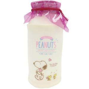 プラスト ティーズファクトリー/スヌーピー 牛乳瓶型ポーチ ペンポーチ/ピンク 6014530 (取寄せ/代引不可/ギフト不可)|ajewelry