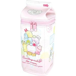 プラスト ティーズファクトリー/すみっコぐらし 牛乳パック型ポーチ ペンポーチ/アイスクリーム 6014817(取寄せ/代引不可/ギフト不可)|ajewelry
