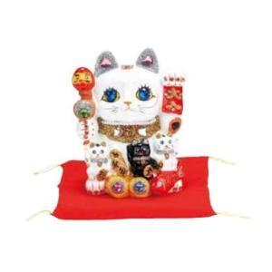 招き猫/親子招福(小) 貯金箱 ネコ 縁起物 和風 C89/880131(取寄せ/代引不可)パール|ajewelry
