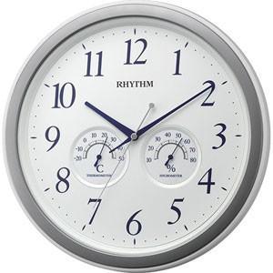 RHYTHM(リズム時計) クオーツ掛時計/オルロージュインフォート M37 温湿度計付き 白 8MGA37SR03(取寄せ/代引不可)|ajewelry