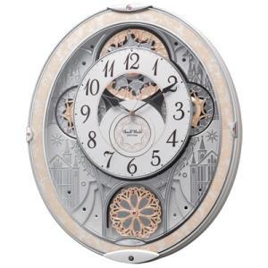 リズム時計 電波掛時計/スモールワールドノエルNS からくり時計 メロディ48曲 8MN407RH03(代引不可)|ajewelry