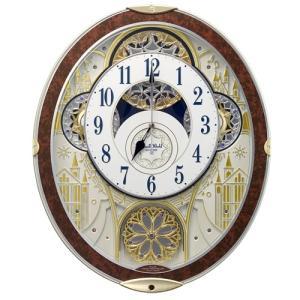リズム時計 電波掛時計/スモールワールドノエルNS からくり時計 メロディ48曲 木目仕上 8MN407RH23(取寄せ)|ajewelry
