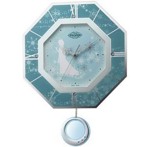 リズム時計/ディズニー アナと雪の女王 振り子時計 電波掛時計 8MX405MC04(取寄せ/代引不可)|ajewelry