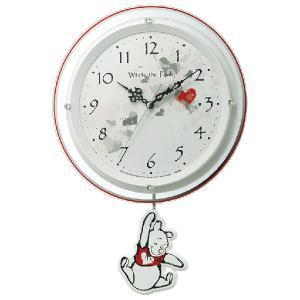 リズム時計/ディズニー くまのプーさん 振り子時計 電波掛時計 8MX407MC03 (代引不可) ajewelry
