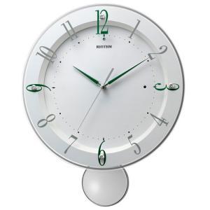 リズム時計 電波掛時計 振子時計/ソフレールS ホワイト 8MX408SR03(取寄せ/代引不可)|ajewelry