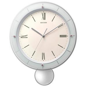 リズム時計 電波掛時計 振子時計/ソフレールS ピンク 8MX408SR13(取寄せ/代引不可)|ajewelry