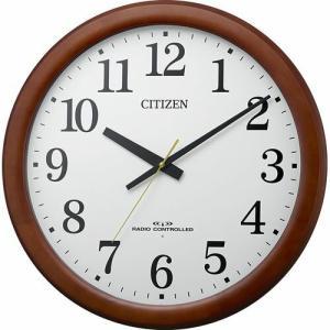 CITIZEN(シチズン) 電波掛時計/大型 オフィスクロック 飛散防止処理ガラス使用/木枠 8MY548-006(取寄せ/代引不可)|ajewelry