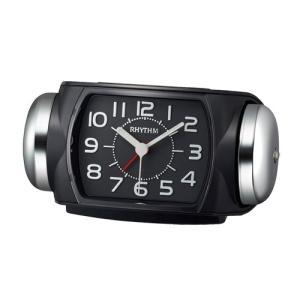 リズム時計 クオーツ 大音量目覚まし時計/タフバトラー 647/ブラック 8RA647SR02(取)|ajewelry