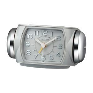 リズム時計 クオーツ 大音量目覚まし時計/タフバトラー 647/グレー 8RA647SR08(取)|ajewelry