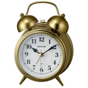5月発売予定/リズム時計 目覚まし時計/コールマンB06 ツインベル レトロ 金色イブシ仕上げ 8RAA06SR63(取寄せ/代引不可)|ajewelry
