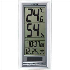 シチズン 高精度センサー ソーラー電源 温・湿度計/ライフナビD204A 8RD204-A19(代引不可)|ajewelry