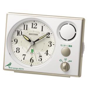 2021年10月再入荷受付中 野鳥の声で朝をお知らせ リズム時計 クオーツ 目覚まし時計/日本野鳥の会 めざまし時計 401/8RM401SR03(取)|ajewelry