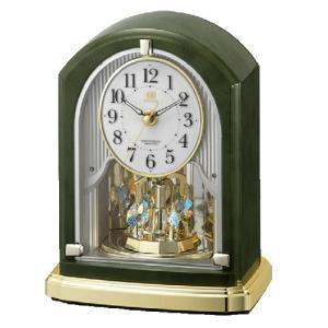 リズム時計 電波置時計/RHG-S74 回転飾り メロディ付き 8RN403HG05(取寄せ/代引不可)|ajewelry