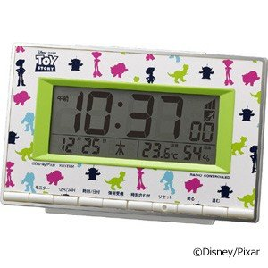 即納! リズム時計 アラームデジタル/ディズニー トイストーリー 電波目覚まし時計 8RZ133MC05 (代引不可)|ajewelry