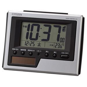5月発売予定/リズム時計 ソーラー電源 電波目覚まし時計/フィットウェーブソーラーD215 温度表示 カレンダー 8RZ215SR19(取寄せ/代引不可)|ajewelry
