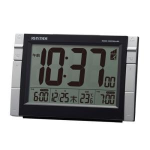 リズム時計 デジタル電波目覚まし時計/フィットウェーブD223 Wアラーム 温度表示/ブラック 8RZ223SR02(取)|ajewelry