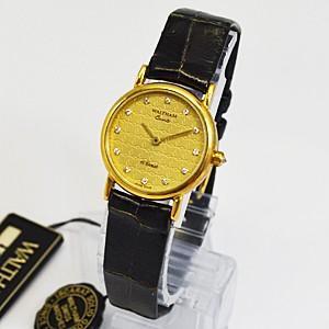 半額(代引き不可) ウォルサム WALTHAM/OLID GOLD 金無垢(18金)ウォッチ 91940|ajewelry