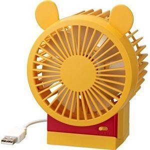 リズム時計 ディズニー USBファン/プーさん fan (Winnie the Pooh) 卓上扇風機 9ZF008MC33 (代引不可) ajewelry
