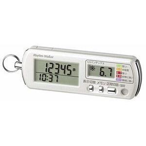 即納! リズム時計/UVセンサー・非常用ブザー付き 3Dセンサー歩数計/リズムウォーカーガード 9ZYA03RH03(代引不可)|ajewelry