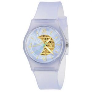 サンフレイム J-AXIS レディースウォッチ 腕時計/パステルカラープラケースウォッチ /ゆめかわ ブルー ファンシー スケルトンダイヤル AL1355-BL(取) ajewelry