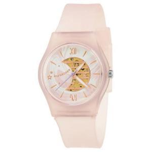 サンフレイム J-AXIS レディースウォッチ 腕時計/パステルカラープラケースウォッチ /ゆめかわ ピンク ファンシー スケルトンダイヤル AL1355-PI(取) ajewelry