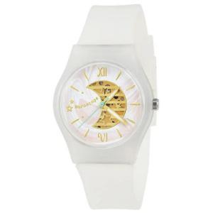 サンフレイム J-AXIS レディースウォッチ 腕時計/パステルカラープラケースウォッチ /ゆめかわ ホワイト ファンシー スケルトンダイヤル AL1355-W(取) ajewelry