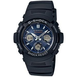 CASIO(カシオ) G-SHOCK/デジアナ 電波ソーラー ブルー AWG-M100SB-2AJF(取寄せ/代引不可)|ajewelry