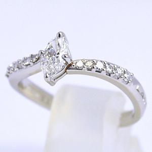 即納/LANCEL(ランセル) プラチナ Pt950/ダイヤモンド デザインリング B1002(代引不可)|ajewelry