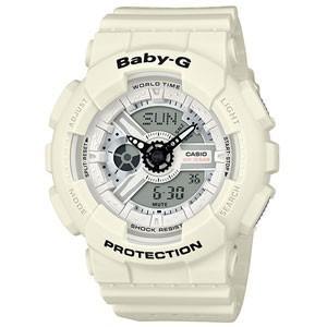 CASIO(カシオ) Baby-G/パンチング・パターン・シリーズ ホワイト×ブラック BA-110PP-7AJF(取寄せ/代引不可)|ajewelry