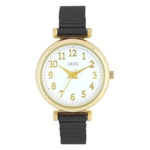 サンフレイム J-AXIS レディースウォッチ 腕時計/シリコン塗装じゃばらウォッチ /ブラック BVL1210-BK(取) ajewelry
