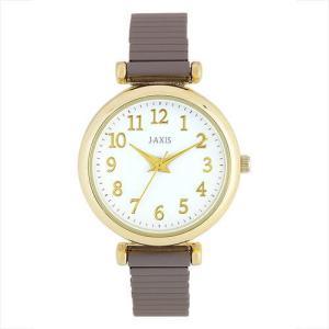 サンフレイム J-AXIS レディースウォッチ 腕時計/シリコン塗装じゃばらウォッチ /ブラウン BVL1210-BR(取) ajewelry