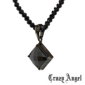 Crazy Angel(クレイジーエンジェル)/グリッターネックレス ブラックキュービック×ブラックスピネル/シルバー925 リバーシブル CA-601(取寄せ/代引不可)|ajewelry