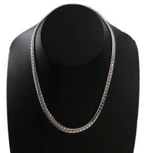 欠品/Crazy Angel/ゲルマニウム&天然ダイヤモンド ネックレス へリンボーンチェーン 紋章 真鍮 シルバーカラー 60cm 7mm幅 CAG-101-R60(取)|ajewelry|05