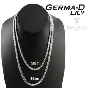 欠品/Crazy Angel/ゲルマニウム&天然ダイヤモンド ネックレス へリンボーンチェーン 紋章 真鍮 シルバーカラー 60cm 7mm幅 CAG-101-R60(取)|ajewelry|08