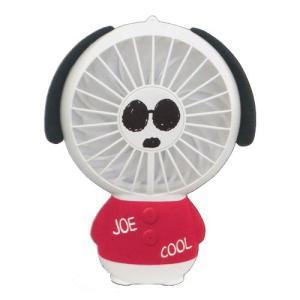 只今底値!スヌーピー ハンディファン ジョークール 扇風機 充電式 スタンド付き LEDライト付/レッド CR-52839/880166 クラックス/パール ajewelry