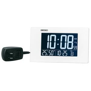 SEIKO(セイコー) デジタル電波時計 カレンダー 温湿度表示 アラーム付き 交流電源/DL215W(取) ajewelry