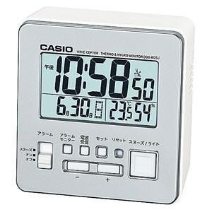 CASIO カシオ 電波クロック 目覚まし時計/wave ceptor 温湿度計付き シルバー DQD-805J-8JF(取寄せ/代引不可)|ajewelry