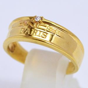 即納/LANCEL(ランセル) K18ゴールド/ダイヤモンド デザインリング F0058(代引不可)|ajewelry