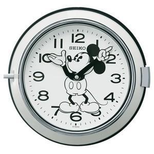 SEIKO(セイコー) /大人ディズニー レトロ ミッキー 掛時計  モノクロ FS504W(取寄せ/代引不可)|ajewelry