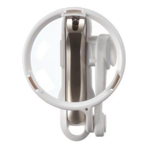 日本製 GREEN BELL/匠の技 直径70mmルーペ付 ステンレス製つめきり 爪切り 倍率3倍 G-1224/880124 (取)パール|ajewelry
