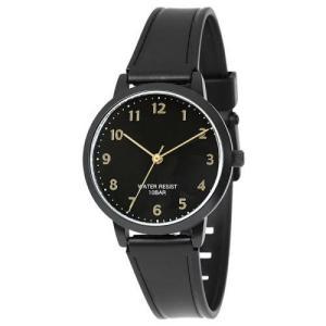 サンフレイム J-AXIS レディースウォッチ 10気圧防水 腕時計/ラバーベルトウォッチ /ブラック HL270-BK(取) ajewelry
