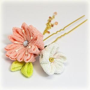 手作り つまみ細工/髪飾り 花 和装小物 ヘアアクセサリー かんざし(代引不可)|ajewelry