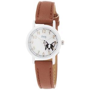 フィールドワーク 腕時計 キッズウォッチ/シートン アニマル/イヌ ブラウン KDS003-5 BR(取)|ajewelry